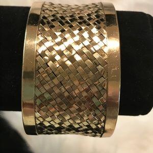 Gold Tone Metal Cuff